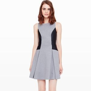 Club Monaco Janine Leather Panel Dress